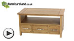 Watch Newark Solid Oak Widescreen TV + DVD Cabinet video