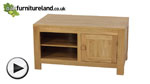 Watch Oakdale Solid Oak Widescreen TV + DVD Cabinet video