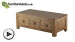 Watch Oakdale Solid Oak 6 Drawer Coffee Table (3 drawers each side) video