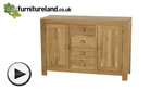 Watch Oakdale Natural Solid Oak Large Sideboard video