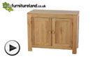 Watch Oakdale Natural Solid Oak Small Sideboard video
