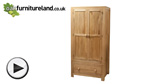 Watch Oakdale Solid Oak Wardrobe video