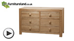 Watch Oakdale Natural Solid Oak 6 Drawer Chest video