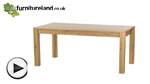Watch Oakdale Natural Solid Oak 6ft x 3ft Dining Table video
