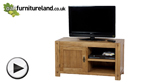 Watch Quercus Rustic Solid Oak TV + DVD Cabinet video