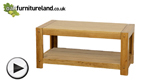Watch Quercus Solid Oak Coffee Table video