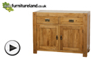 Watch Quercus Solid Oak Small Sideboard video
