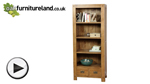 Watch Quercus Solid Oak Tall Bookcase video
