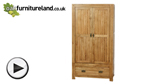 Watch Quercus Solid Oak Wardrobe video