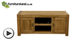 Watch Quercus Solid Oak Widescreen TV Cabinet video