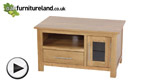 Watch Rivermead Natural Solid Oak TV + DVD Cabinet video