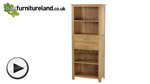 Watch Rivermead Solid Oak Bookcase / Storage Unit video