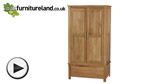 Watch Rivermead Solid Oak Wardrobe video