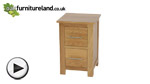 Watch Rivermead Natural Solid Oak 2 Drawer Bedside Chest video