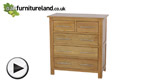 Watch Rivermead Solid Oak 5 Drawer Chest video