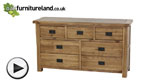 Watch Original Rustic Solid Oak 3+4 Drawer Chest video