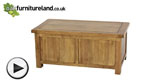 Watch Rustic Solid Oak Blanket Box video