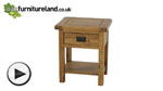 Watch Rustic Solid Oak Lamp Table video