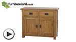 Watch Rustic Solid Oak Small Sideboard video