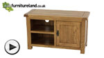 Watch Original Rustic Solid Oak TV + DVD Cabinet video
