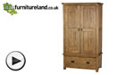 Watch Rustic Solid Oak Wardrobe  video