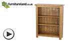 Watch Rustic Solid Oak Wide Bookcase video
