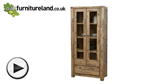 Watch Saigon Solid Acacia Glazed Display Cabinet video