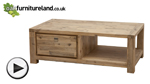 Watch Saigon Solid Acacia Large 2 Drawer Coffee Table video