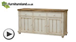 Watch Shabby Chic Solid Mango Large Sideboard video