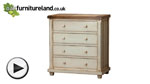Watch Shabby Chic Solid Mango 4 Drawer Chest video