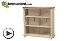 Watch Shabby Chic Solid Mango Low Bookcase video
