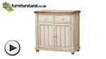 Watch Shabby Chic Solid Mango Small Sideboard video
