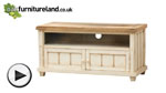 Watch Shabby Chic Solid Mango TV + DVD Cabinet with Drop-Down Door video