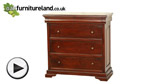 Watch Sleigh Solid Mahogany 3+1 Chest of Drawers video