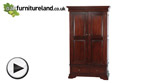 Watch Sleigh Solid Mahogany Double Wardrobe video
