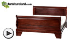 Watch Sleigh Solid Mahogany 5ft King-Size Bed with High Footboard video