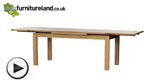 Watch Dorset 6ft x 3ft Natural Solid Oak Extending Dining Table (Seats up to 12 people Extended) video
