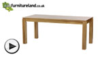 "Watch Galway 6ft x 2ft 8"" Natural Solid Oak Table video"