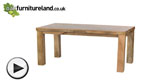 "Watch Mantis Light Natural Solid Mango 4ft x 2ft 6"" Dining Table video"