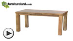 "Watch Mantis Light Natural Solid Mango 5ft x 2ft 6"" Dining Table video"