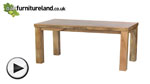 Watch Mantis Light Natural Solid Mango 6ft x 3ft Dining Table video