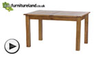 "Watch Rustic Solid Oak 4ft 3"" x 3ft Extending Dining Table video"