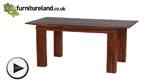 Watch Tokyo Brown Teak Solid Teak Mango 6ft x 3ft Dining Table video