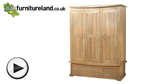 Watch Tokyo Natural Solid Oak Triple Wardrobe video