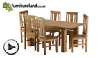 Watch Tokyo Natural Solid Oak 6ft x 3ft Dining Table video