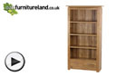 Watch Tokyo Solid Oak Tall Bookcase video