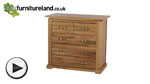 Watch Tokyo Natural Solid Oak Chest of Drawers video