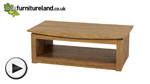 Watch Tokyo Solid Oak Large Coffee Table video