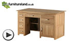 Watch Tokyo Natural Solid Oak Large Computer Desk video