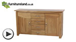 Watch Tokyo Solid Oak Large Sideboard video